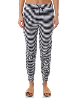NAVY WHITE STRIPE WOMENS CLOTHING SILENT THEORY PANTS - 6041012NVY