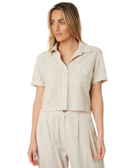 SAND STRIPE WOMENS CLOTHING STUSSY FASHION TOPS - ST193402SNDST