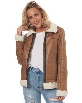 TAN WOMENS CLOTHING SWELL JACKETS - S8171382TAN