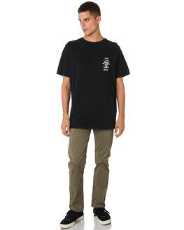 BLACK WHITE MENS CLOTHING RIP CURL TEES - CTEPV20431