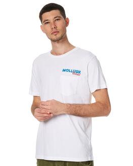 WHITE MENS CLOTHING MOLLUSK TEES - MS1483WHT