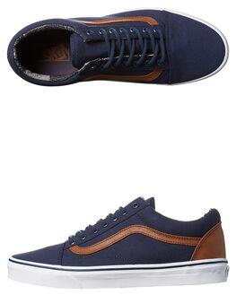 DRESS BLUES MATERIAL MENS FOOTWEAR VANS SNEAKERS - VN-08G1MVEBLU