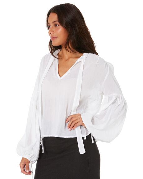 WHITE WOMENS CLOTHING RUE STIIC FASHION TOPS - AS-19-12-W1-RWHT