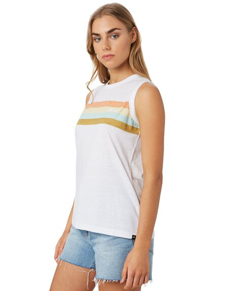 WHITE WOMENS CLOTHING RIP CURL SINGLETS - GTECN21000