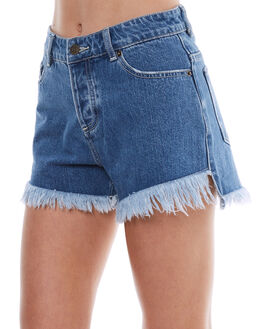 VINTAGE BLUE WOMENS CLOTHING THE HIDDEN WAY SHORTS - H8173231VTB