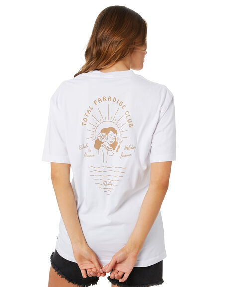 WHITE WOMENS CLOTHING RUSTY TEES - TTL1145WHT