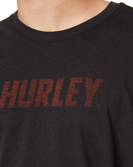 BLACK MENS CLOTHING HURLEY TEES - MTS0026300H010