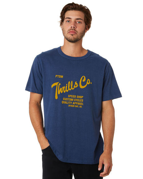 ROYAL BLUE MENS CLOTHING THRILLS TEES - TA20-111ERYBLU