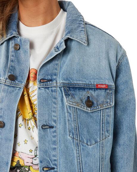 JOURNEY BLUE WOMENS CLOTHING WRANGLER JACKETS - W-951760-NU8