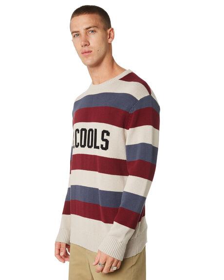 NAVY STRIPE MENS CLOTHING BARNEY COOLS KNITS + CARDIGANS - 415-CC1NVYST