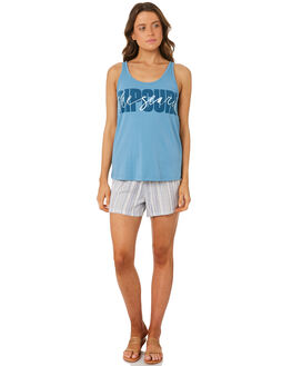 TEAL WOMENS CLOTHING RIP CURL SINGLETS - GTEVT14821