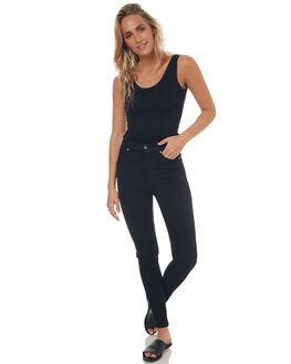 BLACK WOMENS CLOTHING BETTY BASICS SINGLETS - BB217BLK