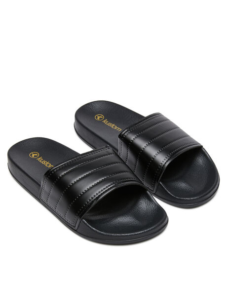 BLACK WOMENS FOOTWEAR KUSTOM SLIDES - K601104BLK