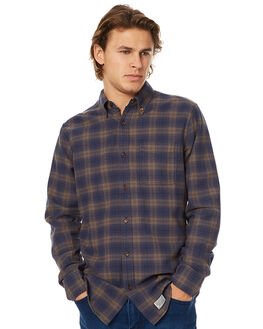 PINE NAVY MENS CLOTHING DEUS EX MACHINA SHIRTS - DMW75605PNVY