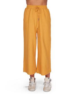 HONEY GOLD WOMENS CLOTHING BILLABONG PANTS - BB-6595741-HOG