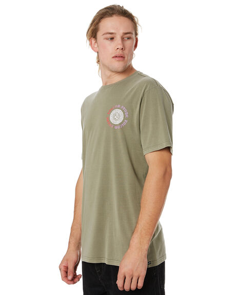 ARMY GREEN COMBO MENS CLOTHING VOLCOM TEES - A5241972ARC