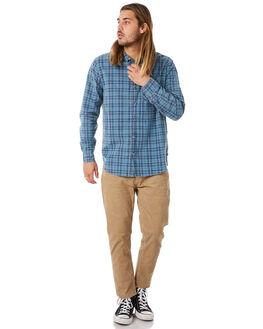 BLUE CHECK MENS CLOTHING ROLLAS SHIRTS - 153763973