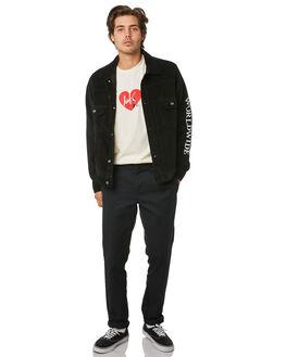 BLACK MENS CLOTHING HUF JACKETS - JK00127-BLACK
