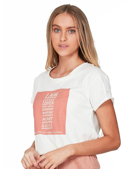 SNOW WHITE WOMENS CLOTHING ROXY TEES - ERJZT04868-WBK0