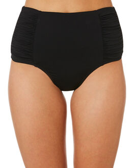 BLACK WOMENS SWIMWEAR SEA LEVEL AUSTRALIA BIKINI BOTTOMS - SL4140PBLK