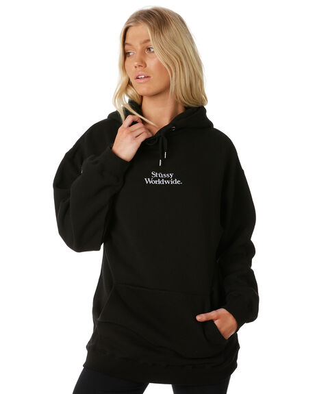 BLACK WOMENS CLOTHING STUSSY JUMPERS - ST187307BLK