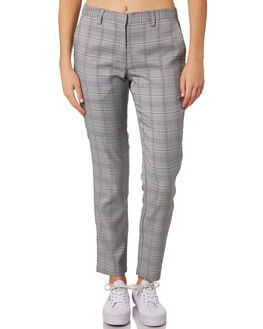 GREY PLAID WOMENS CLOTHING SILENT THEORY PANTS - 6034029GRY