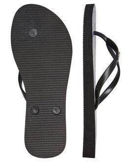PRINTED BLACK WOMENS FOOTWEAR RUSTY THONGS - FOL0364PBLK