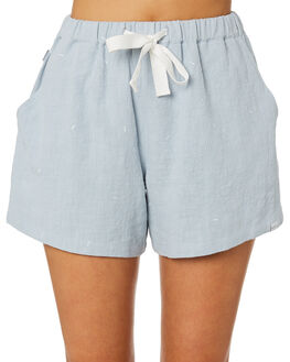 BLUE WOMENS CLOTHING RPM SHORTS - 9SWB02ABLU