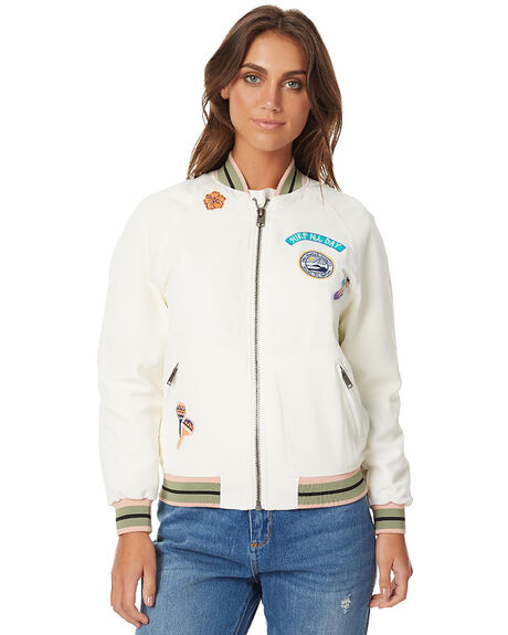 MARSHMALLOW WOMENS CLOTHING ROXY JACKETS - ERJJK03175WBT0