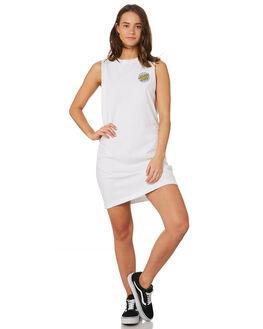 WHITE WOMENS CLOTHING SANTA CRUZ DRESSES - SC-WDC9894WHT