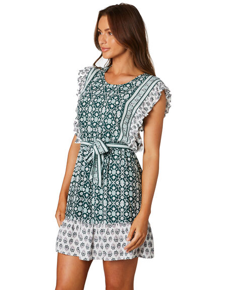 GREEN WOMENS CLOTHING TIGERLILY DRESSES - T305427GRN