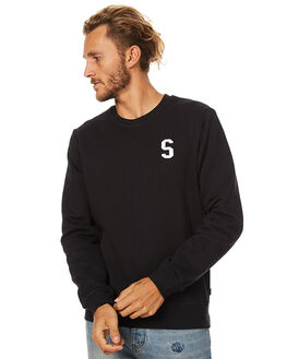 BLACK MENS CLOTHING SWELL JUMPERS - S5173444BLK