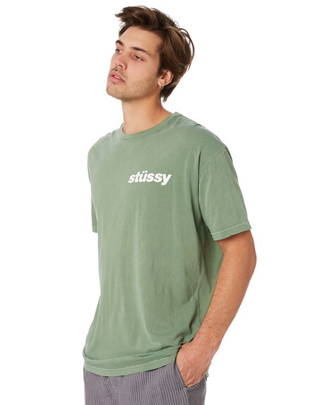 FERN GREEN MENS CLOTHING STUSSY TEES - ST092000FERG