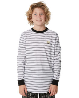 BLACK WHITE KIDS BOYS BILLABONG TOPS - 8585172913