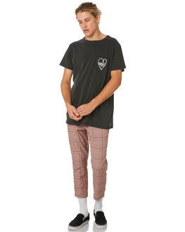DIRTY BLACK MENS CLOTHING BANKS TEES - WTS0381DBL