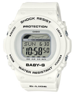 WHITE WOMENS ACCESSORIES BABY G WATCHES - BLX570-7DWHI