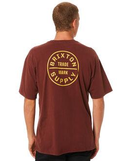 CHESTNUT MENS CLOTHING BRIXTON TEES - 06281CSNUT