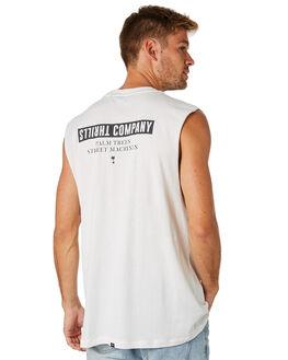 DIRTY WHITE MENS CLOTHING THRILLS SINGLETS - TS8-109ADTWHT