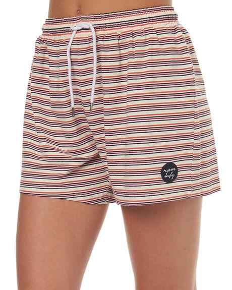CANDY STRIPE WOMENS CLOTHING RPM SHORTS - 7SWB02BCSTRP