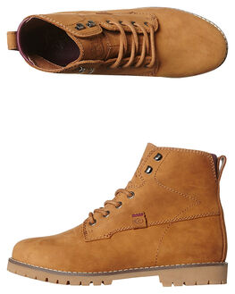 COGNAC TAN WOMENS FOOTWEAR RIP CURL BOOTS - TGLAK1215