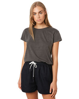 WASHED CHARCOAL WOMENS CLOTHING SILENT THEORY TEES - 6015014CHAR