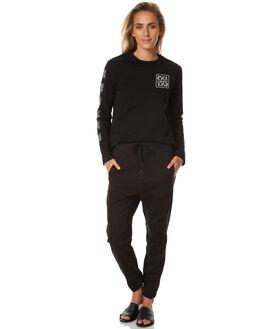BLACK WOMENS CLOTHING RVCA TEES - R271092BLK
