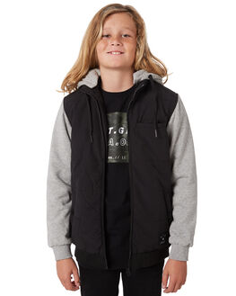 BLACK KIDS BOYS ST GOLIATH JUMPERS + JACKETS - 2414015BLK