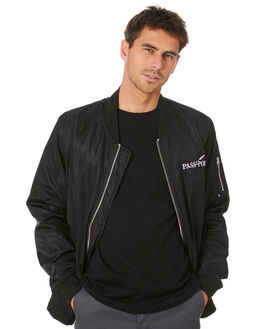 BLACK MENS CLOTHING PASS PORT JACKETS - PPLAVJACKETBLK