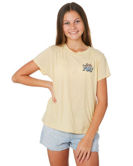DUST YELLOW KIDS GIRLS VOLCOM TOPS - B35319Y1DYL