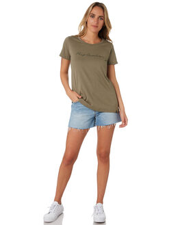 OLIVE WOMENS CLOTHING RIP CURL TEES - GTEDB20058