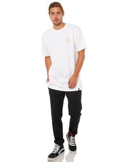 WHITE MENS CLOTHING HUF TEES - TS00184WHT