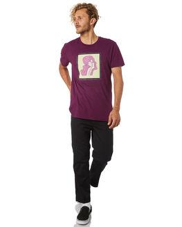 PLUM MENS CLOTHING GOOD WORTH TEES - TFA1832PLUM