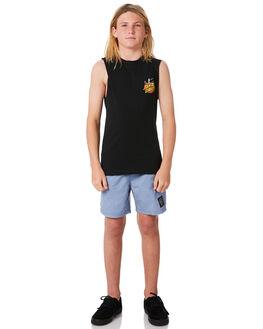 BLACK KIDS BOYS SANTA CRUZ SINGLETS - SC-YTC8106BLK