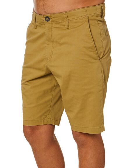 DARK KHAKI MENS CLOTHING VOLCOM SHORTS - A0902003DKAK
